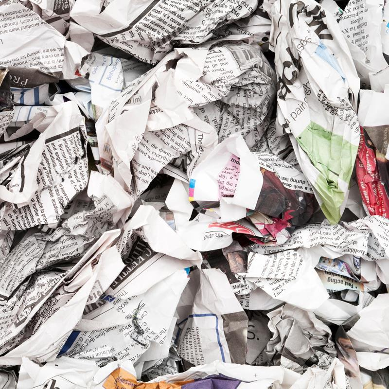 Shredded News Paper