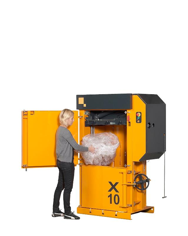 X10 HD low profile baler from BramidanUSA for plastic and cardboard